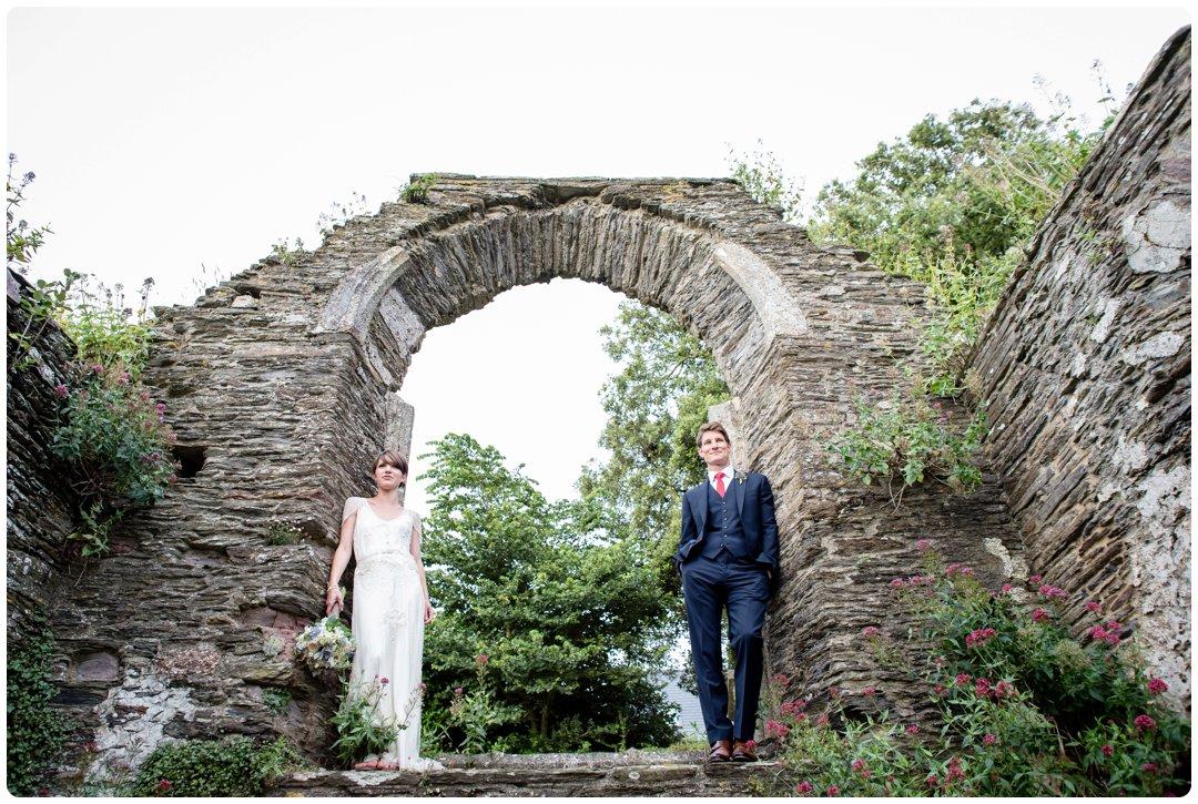 Jenny Packham Eden dress devon wedding abandoned church