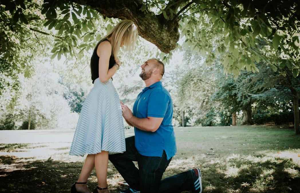 She said YES. A live proposal | Mottisfont Abbey | Hampshire