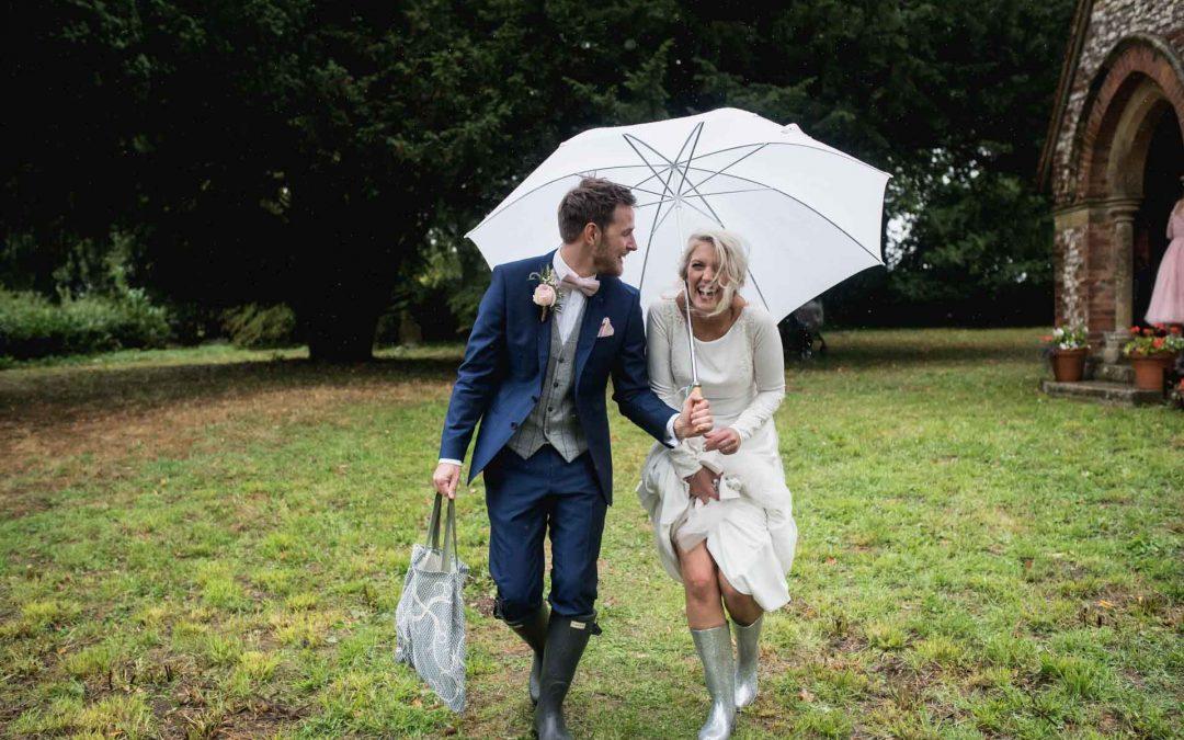 Rainy Bank holiday wedding day