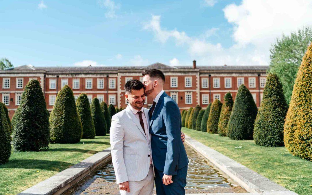 Gabriel and Logan. Winchester Registry wedding