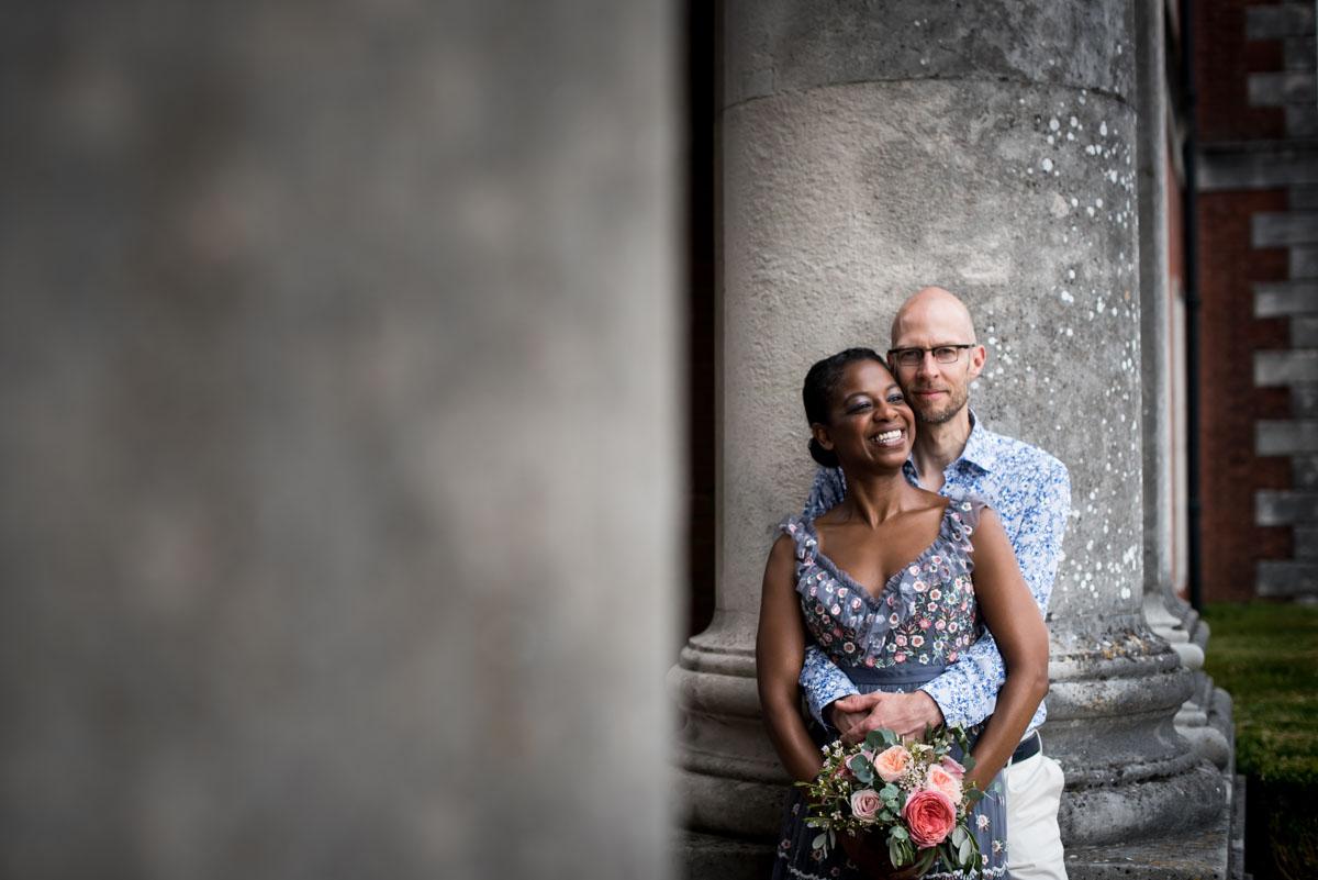 black bride wearing alternative wedding dress