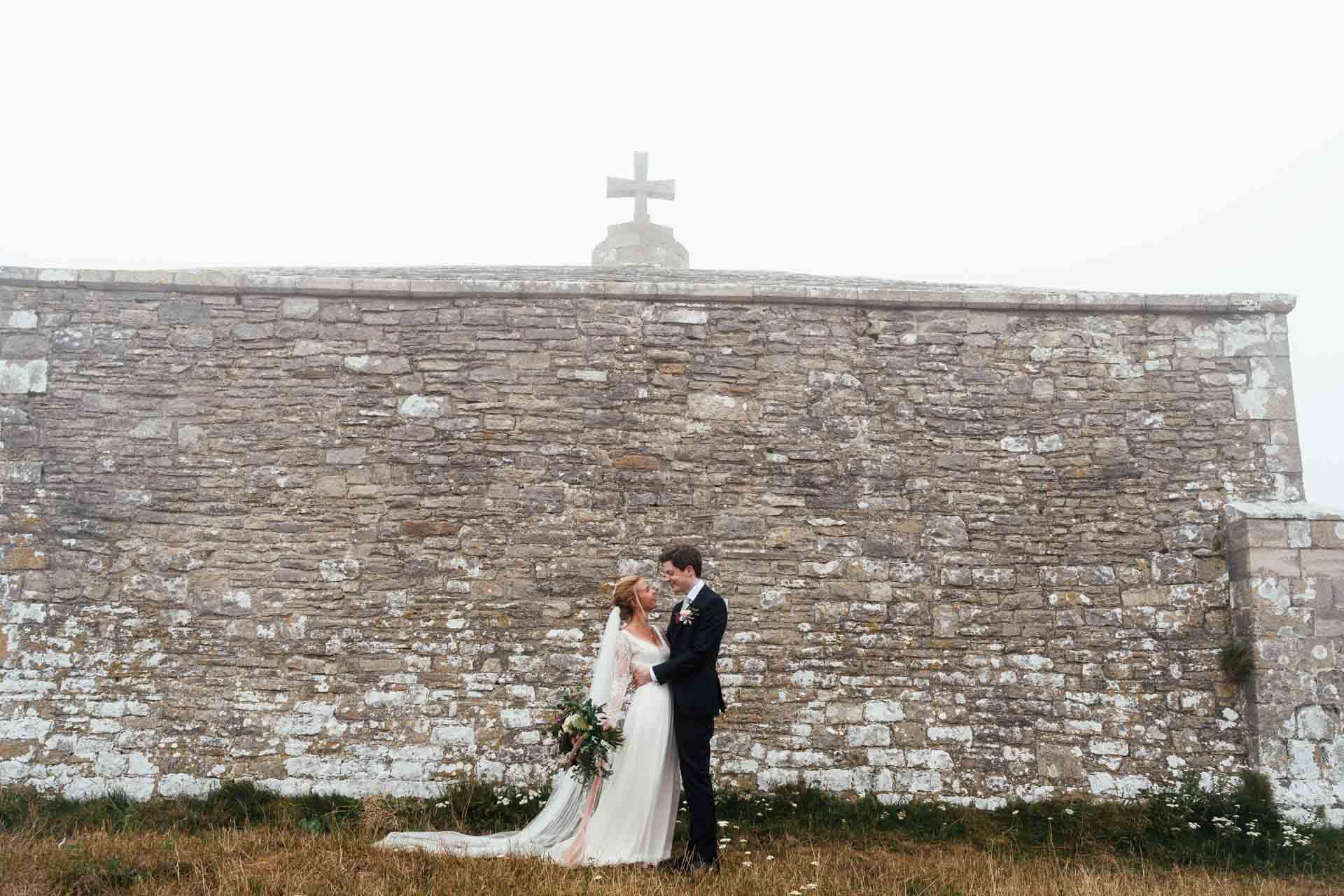 wedding at misty church