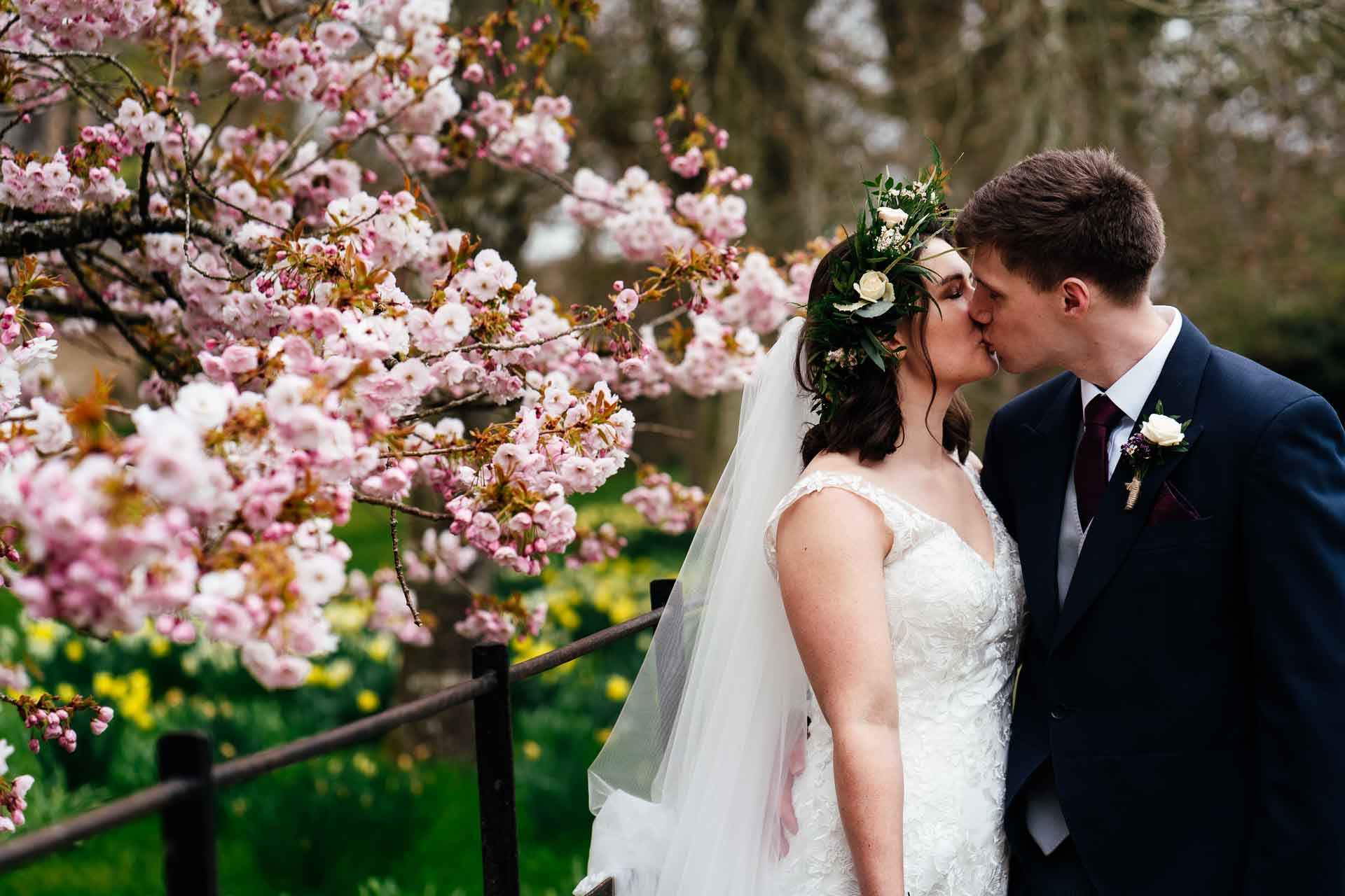 spring blossom Winchester wedding